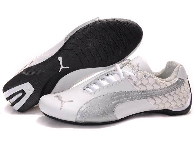 Men's Puma Future Cat Argyle Shoes White/Silver