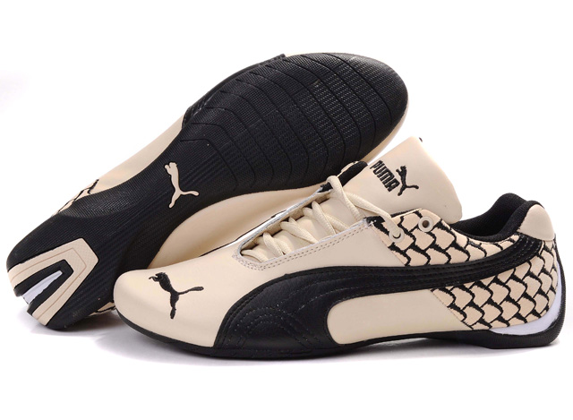 Men's Puma Future Cat Argyle Shoes Beige/Black