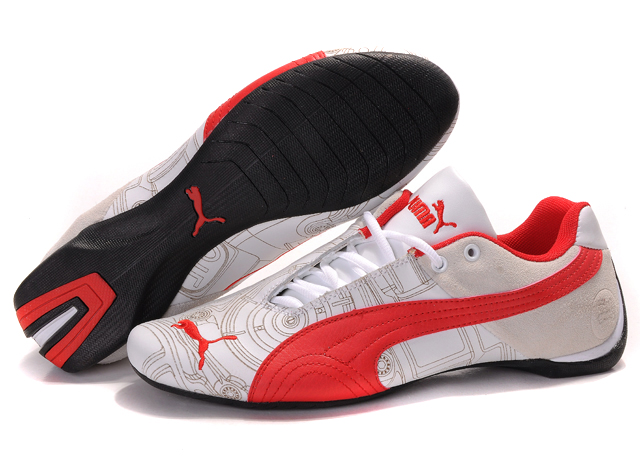 Puma Future Cat Ferrari Sneakers White/Tan/Red