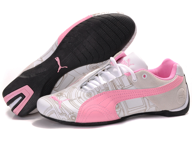 Women's Puma Future Cat Ferrari Sneakers White/Tan/Pink