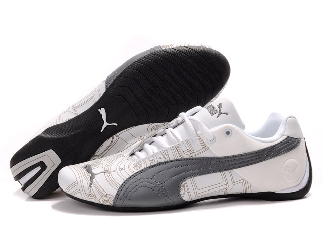 Men's Puma Future Cat Ferrari Sneakers White/Tan/Silver