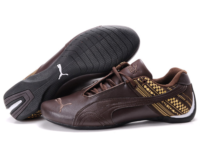 Women's Puma Future Cat GT Shoes Brown/Gold