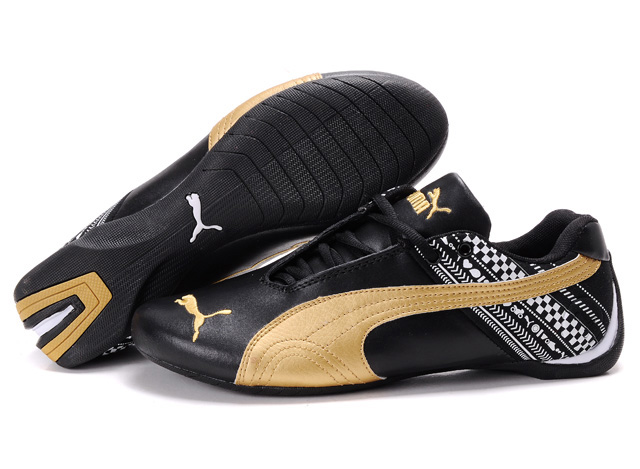 Puma Future Cat GT Shoes Black/Gold/White
