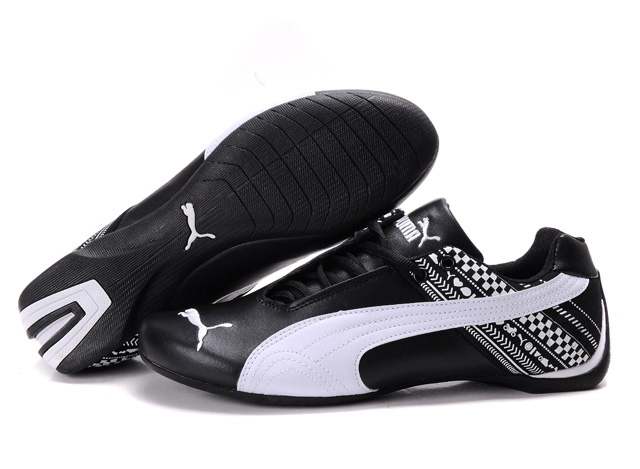 Men's Puma Future Cat GT Shoes Black/White