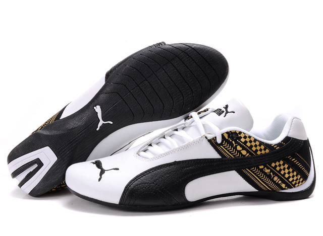 Puma Future Cat GT Shoes White/Black/Gold