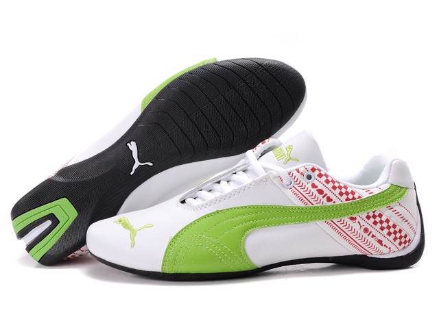 Puma Future Cat GT Shoes White/Green/Red