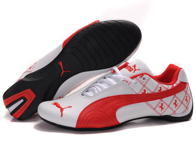 Men's Puma Future Cat Shoes White/Red