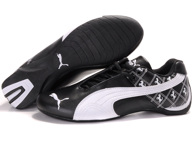 Men's Puma Future Cat Shoes Black/White