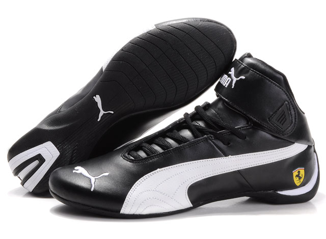 Men's Puma High Tops Shoes Black/White