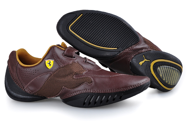 Puma Leather Ferrari Shoes Brown