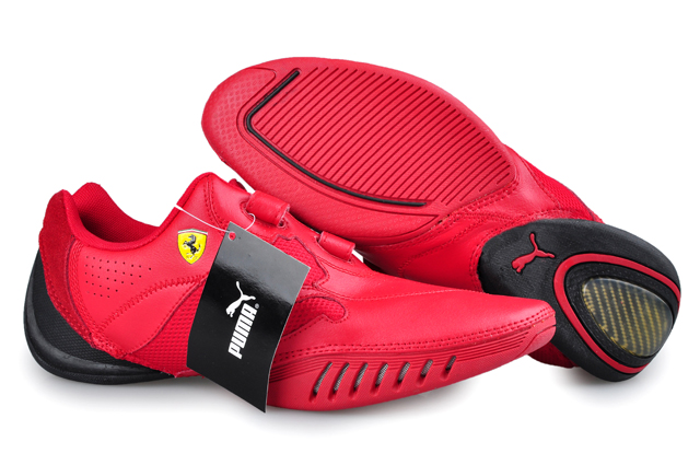 Men's Puma Leather Ferrari Shoes Red