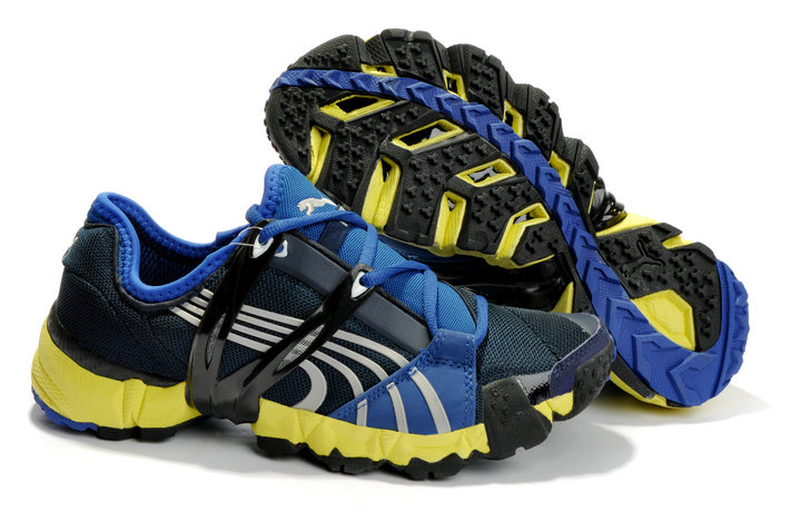 Puma Mesh Running Shoes Black/Blue/Yellow