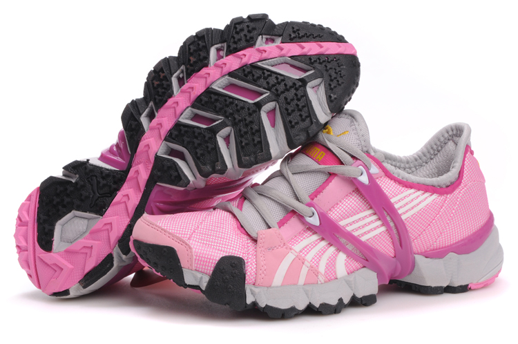 Puma Mesh Running Shoes Grey/Pink