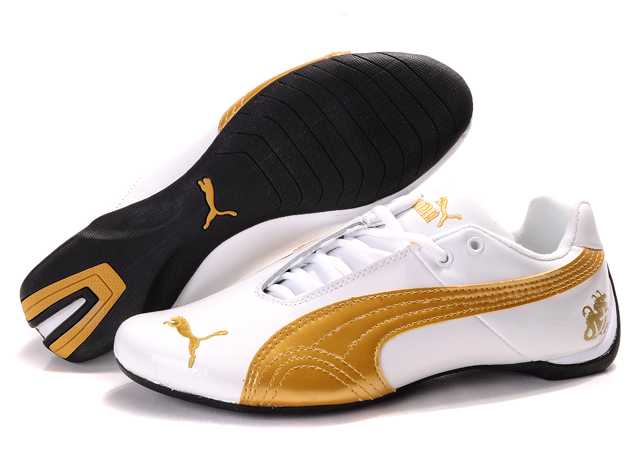 Puma Michael Schumacher Shoes White/Gold
