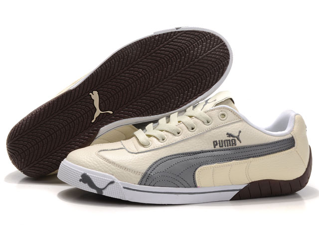 Puma Michael Schumacher Trainers Beige/Grey
