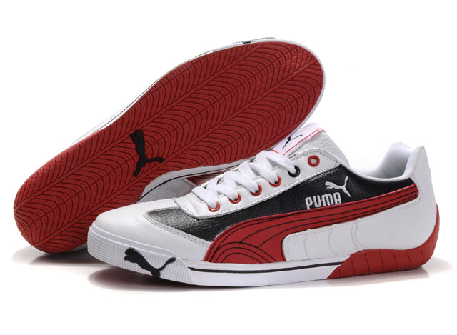 Puma Michael Schumacher Trainers White/Black/Red