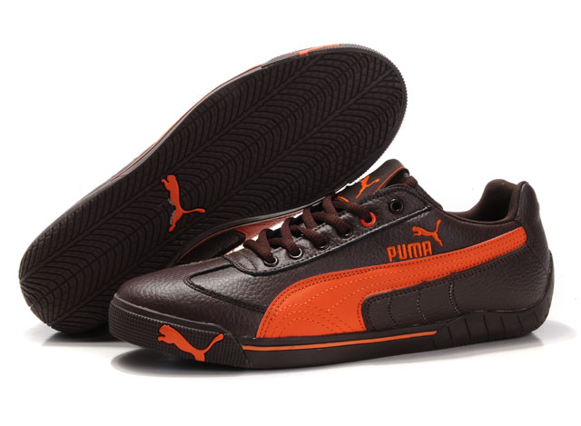 Puma Michael Schumacher Trainers Brown/Orange