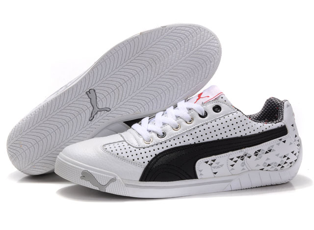 Puma Michael Schumacher Trainers White/Black/Grey