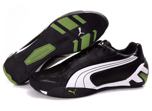 Women's Puma SF Fluxion II Shoes Black/White/Green