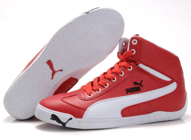Puma Schumacher Racing Shoes Red/White