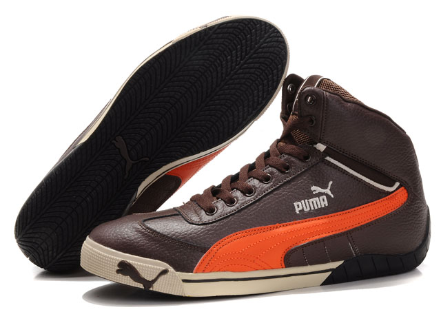 Puma Schumacher Racing Shoes Brown/Orange