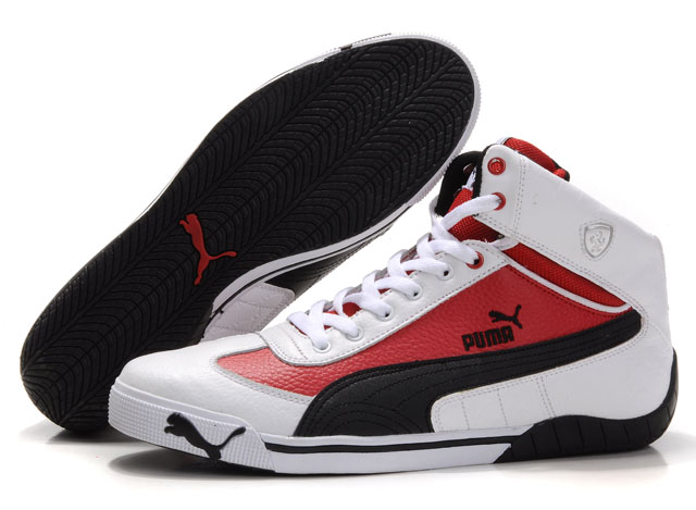 Puma Schumacher Racing Shoes White/Red/Black