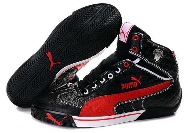 Puma Schumacher Racing Shoes Black/Red/White