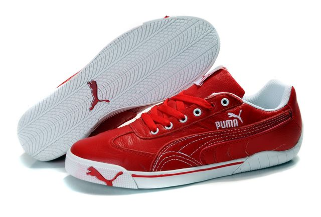 Puma Schumacher Shoes Red/White