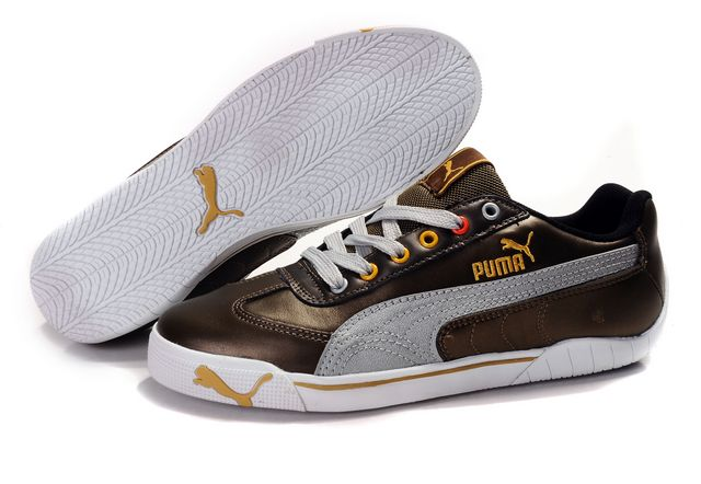 Puma Schumacher Shoes Chocolate/Grey/Gold