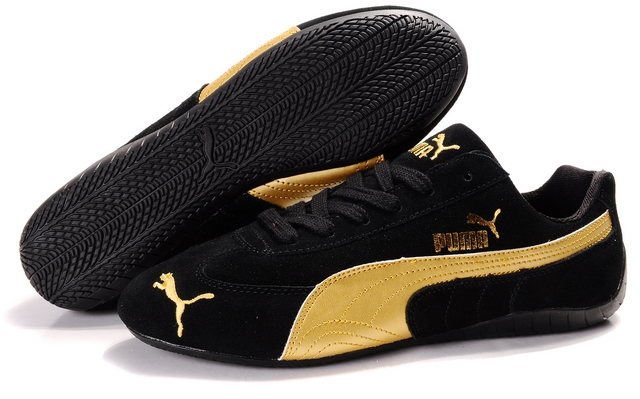 Puma Speed Cat SD Shoes Black/Gold