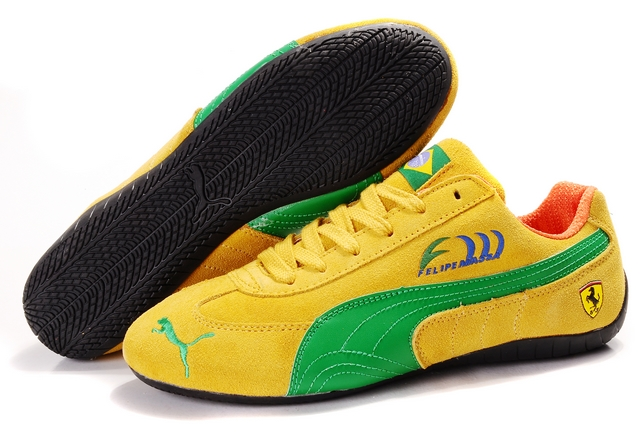 Puma Speed Cat SD Shoes Yellow/Green