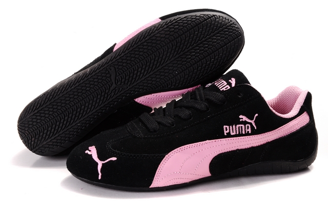 Women's Puma Speed Cat SD Shoes Black/Pink