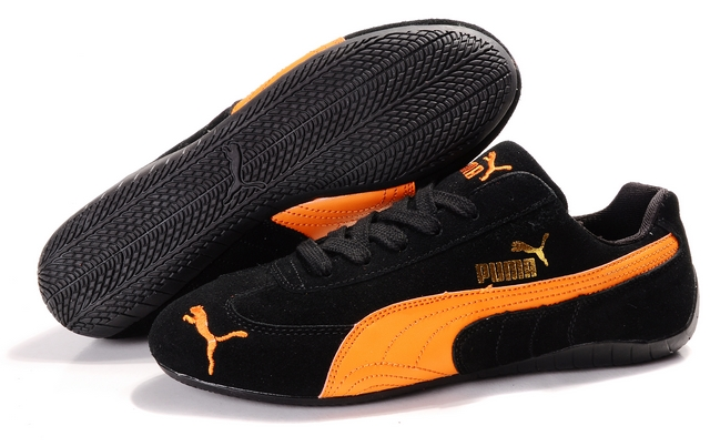 Women's Puma Speed Cat SD Shoes Black/Orange