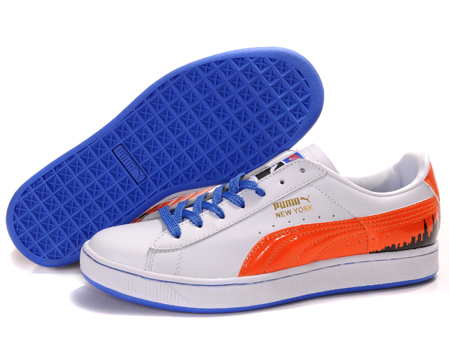 Puma Suede Fat Lace Shoes White/Red/Blue