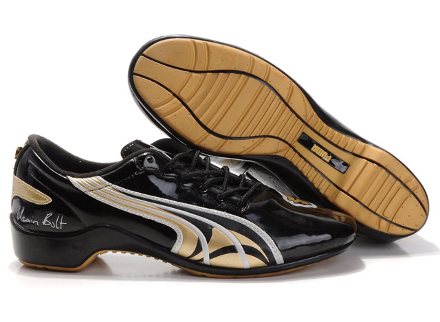 Puma Usain Bolt Shoes Black/Gold