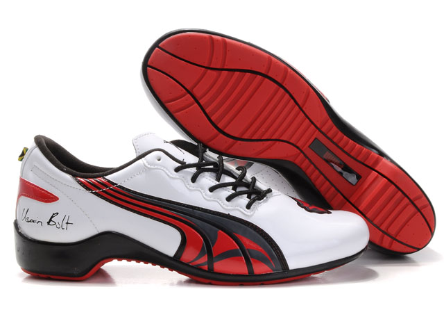 Puma Usain Bolt Shoes White/Red