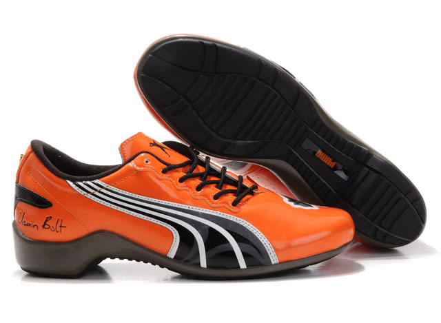Puma Usain Bolt Shoes Orange/Grey