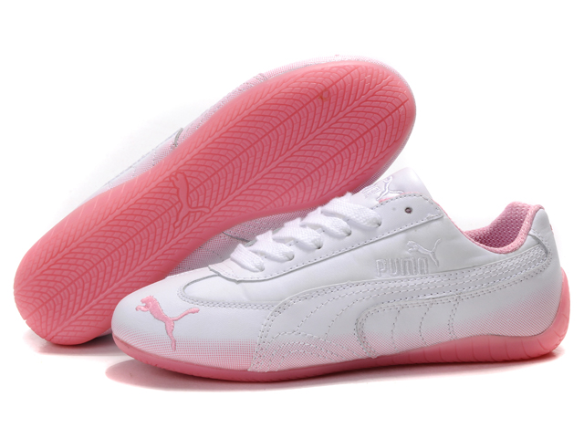 Women's Puma Voltaic Shoes White/Pink