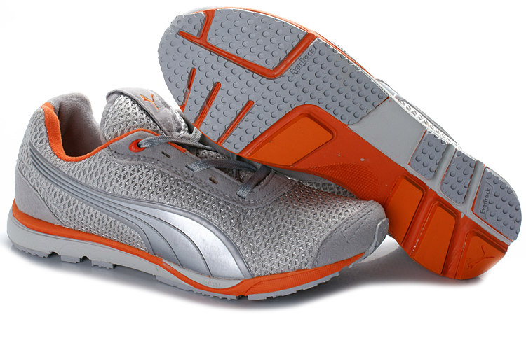 Puma YugoRun Mesh Shoes Grey/Orange