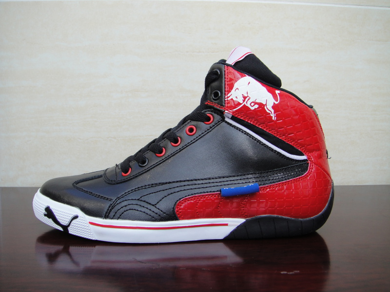Puma Schumacher High Tops Shoes Black/Red