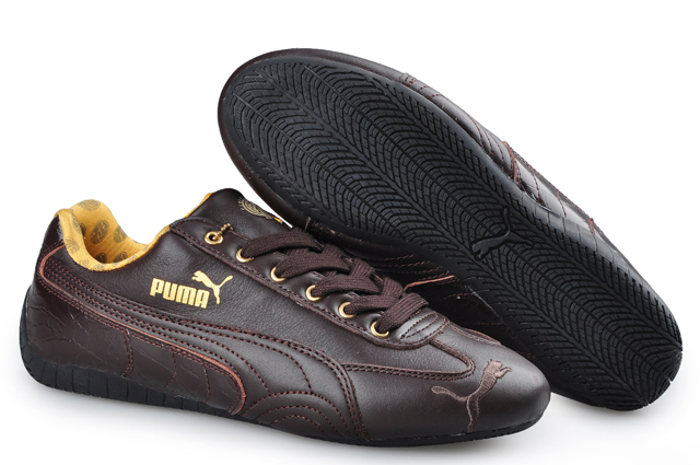 Puma Speed Cat Leather Shoes Chocolate