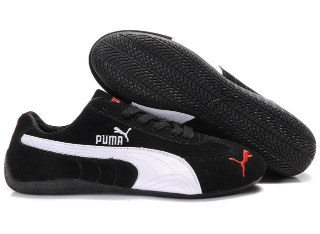 Men's Puma Speed Cat SD Trainers Black/White 01