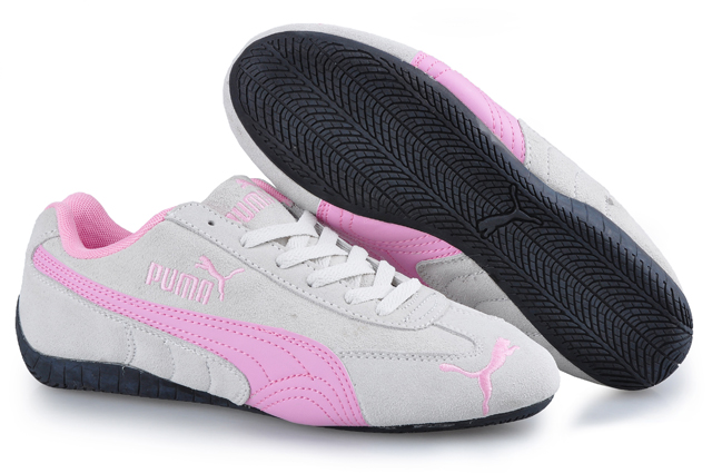 Puma Speed Cat SD Trainers Grey/Pink
