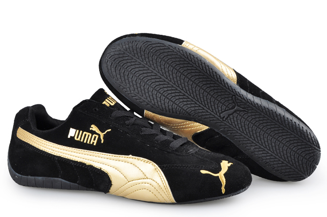 Puma Speed Cat SD Trainers Black/Gold