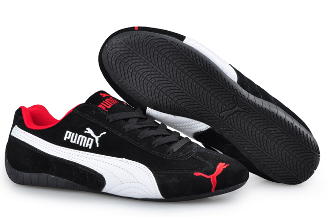 Women's Puma Speed Cat SD Trainers Black/White/Red