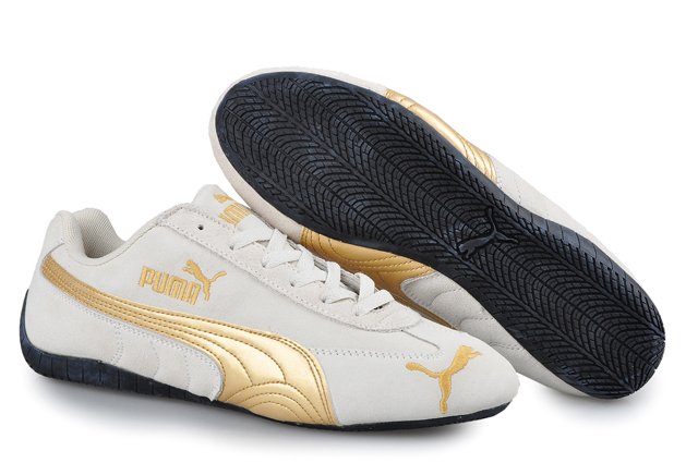 Men's Puma Speed Cat SD Trainers Beige/Gold